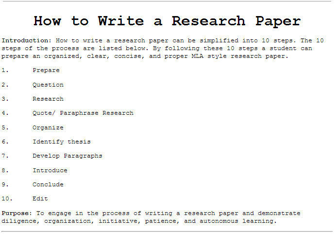 How to do outline for research paper - Expert You Can Trust
